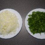 Quittenblätter mit Reis
