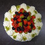 yaz meyveli kremalı yaş pasta
