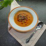 Közlenmiş patlıcan ve biber çorbası