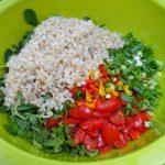 Feldsalat mit Weizen