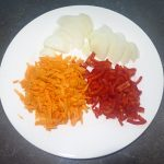 Hähnchenkeule gebraten mit Reis und Orangen-Balsamico Soße